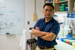 Photo of Dr. Hang Yuan in his lab