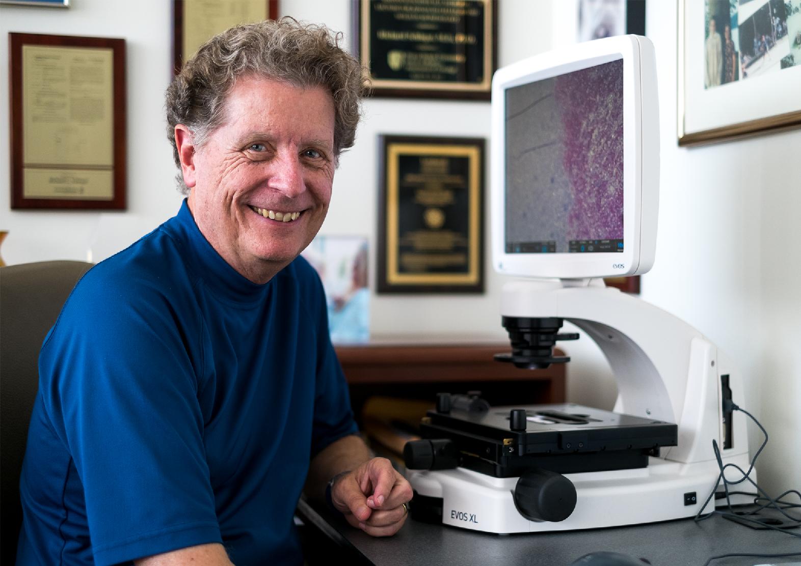 Dr. Richard Schlegel in his office
